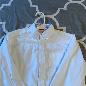 Boys White Izod Long Sleeve Dress Shirt